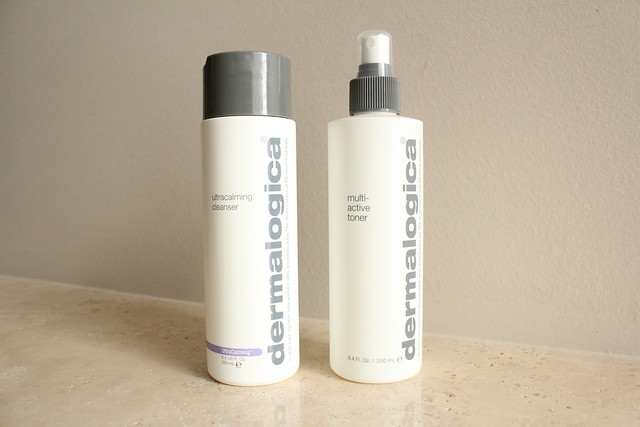 Dermalogica ultracalming cleanser and multi-active toner review
