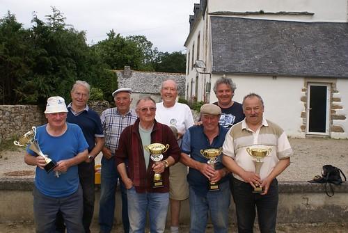 14/07/2014 - Saint Jean du Doigt : Les finalistes du concours de boules plombées en quadrettes mêlées par poules