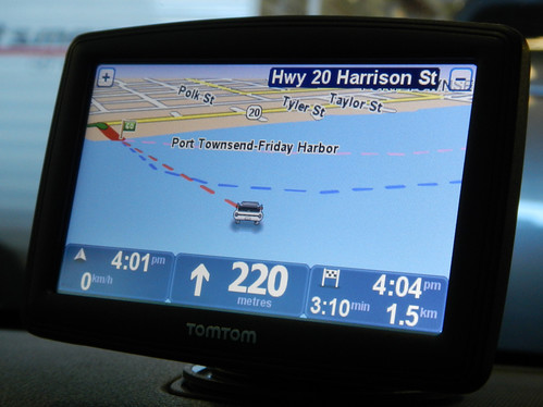 Our GPS while on the ferry to Port Townsend