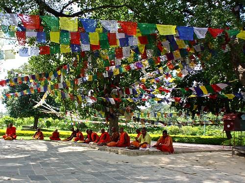 Buddhist monks in Lumbini