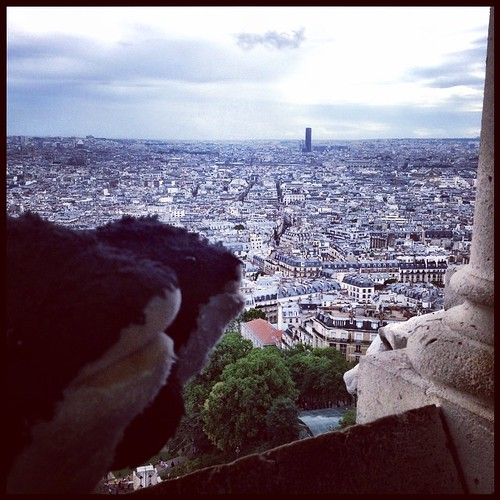 The orcas see #Paris from the dome of the Basilica of the Sacré Cœur.