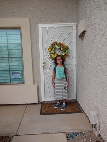 Madeline first day of fourth grade