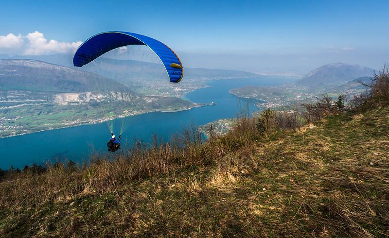 Paragliding, Lake Annecy