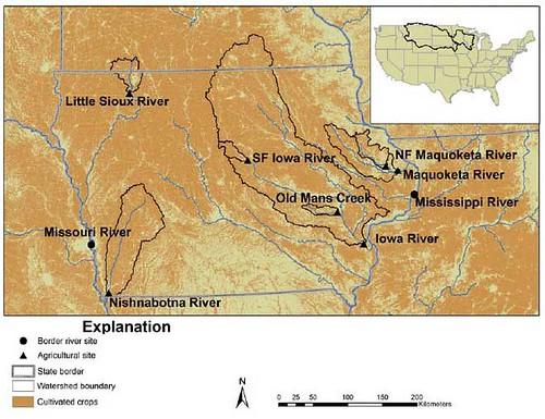 美國地質調查局的研究追蹤中西部河流中廣泛分佈的殺蟲劑蹤跡。攝影:Bob Berwyn。