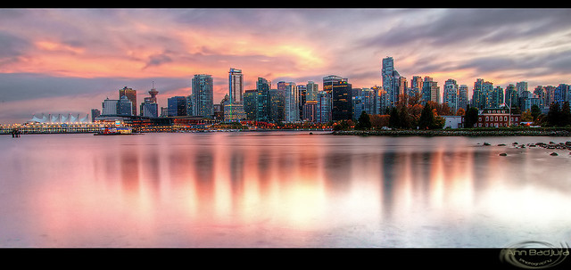 Vancouver at sunset, BC, Canada