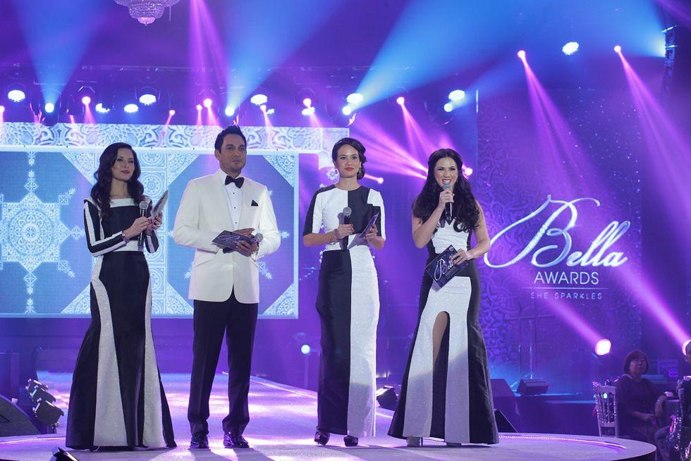 Bella Awards Hosts - Daphne Iking, Hans Isaac, Elaine Daly, Vanessa Chong2