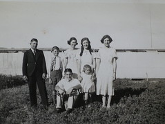The Moseley family with their friends and neighbours the Duhrings.