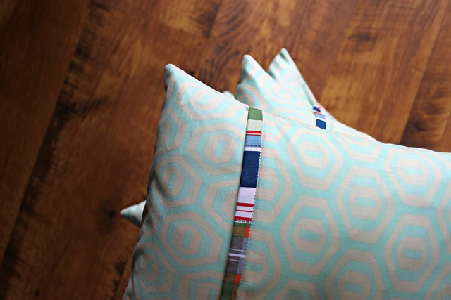 Backed in Amy Butler with Michael Miller plaid binding