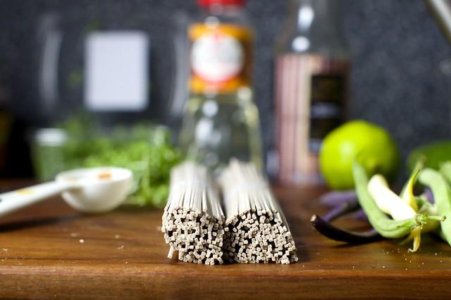 buckwheat noodle bundles