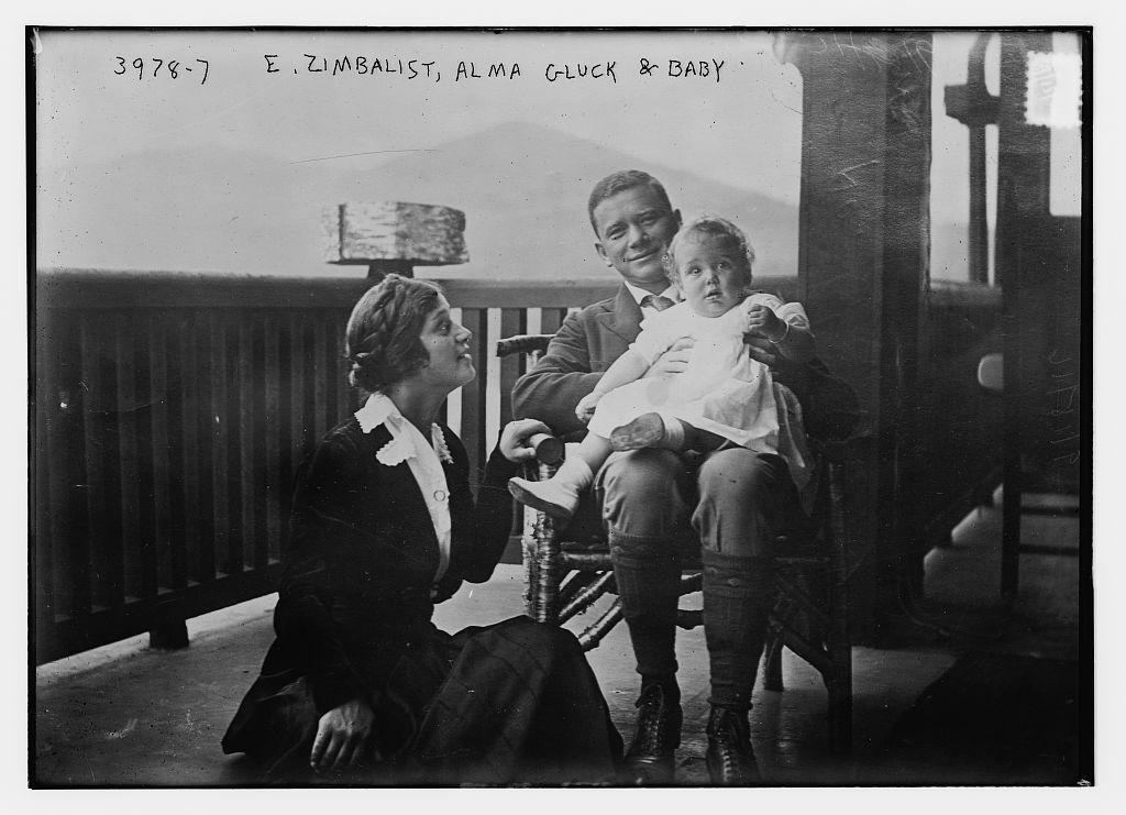 E. Zimbalist, Alma Gluck & Baby (LOC)