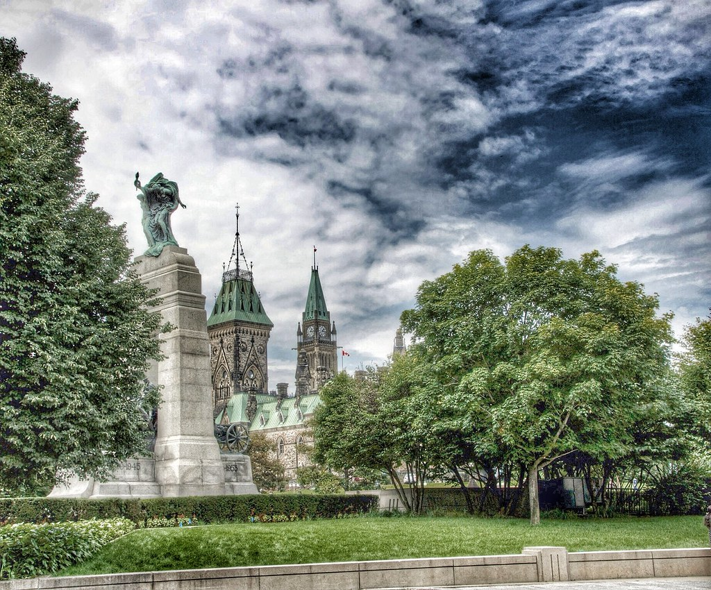 Ottawa Ontario ~ Canada ~ The National War Memorial  AKA The Response ~  Parliament Hill