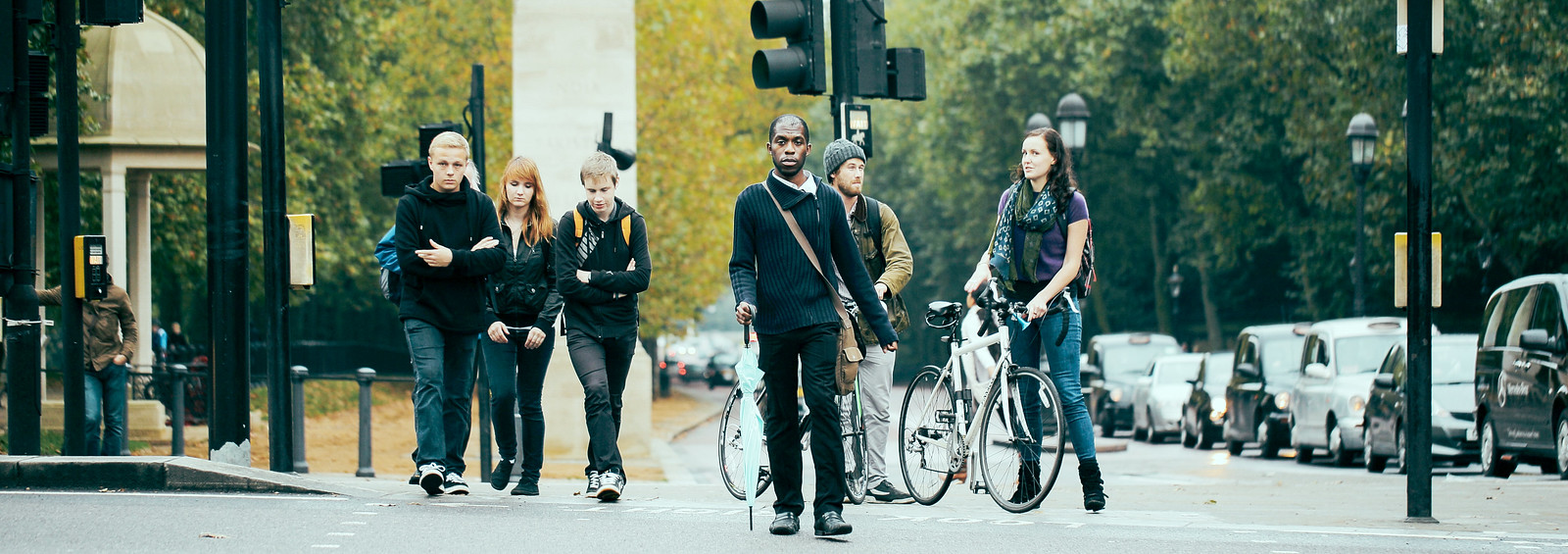 倫敦街頭. 陰天