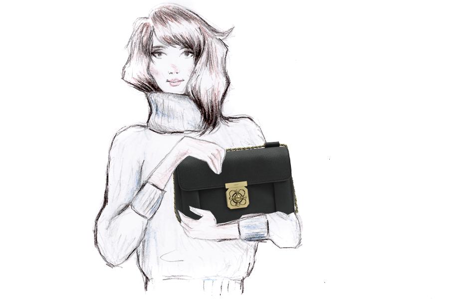 Monnier Frères designer bags autumn winter style illustration drawing blogger Ricarda Schernus Berlin CATS & DOGS 2