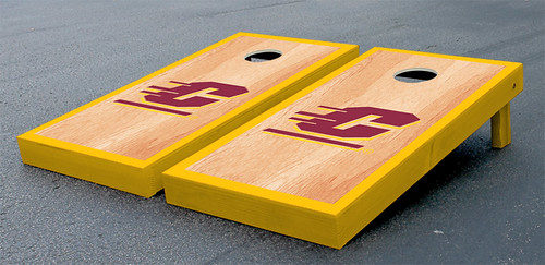 Central Michigan Chippewas Cornhole Game Set Hardcourt Wooden