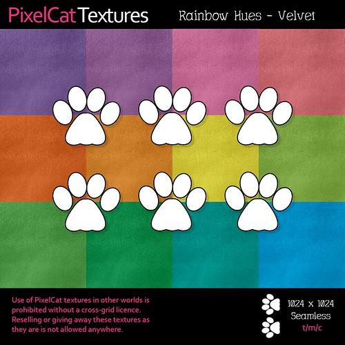 PixelCat Textures - Rainbow Hues - Velvet