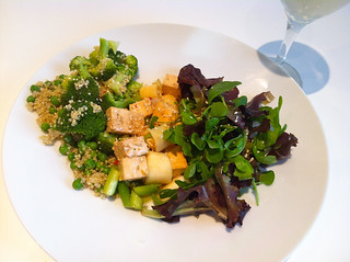 Marinated Tofu and Palm Heart Salad with Quinoa