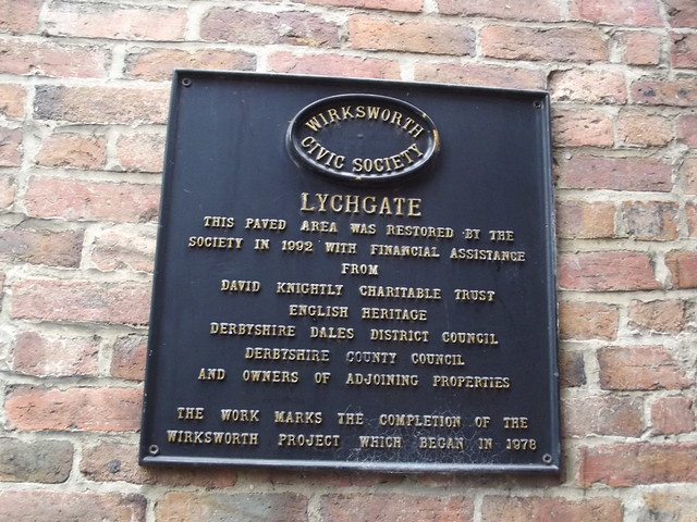 Photo of Lychgate black plaque