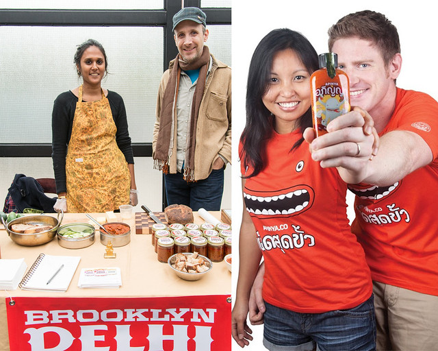 Brooklyn Delhi (left); photo by D. Robert Wolcheck. Apinya Thai Food Co. (right).