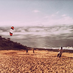 When last did you fly a kite? / #beach #weather #wind #overcast #kite #sky #vscocam #latergram #landscape #question