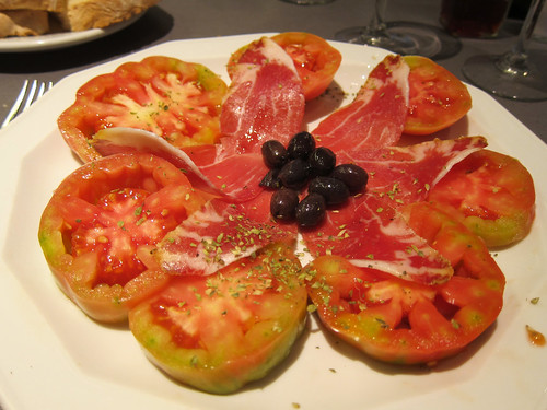 Pear Tomatoes with Ham