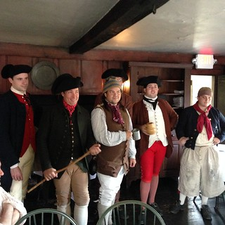 18th century men at the White Horse Tavern in Newport