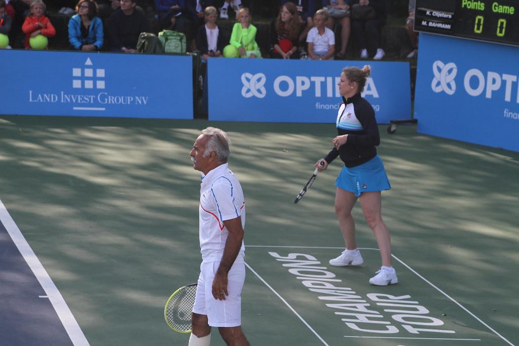 Mansour Bahrami and Kim Clijsters