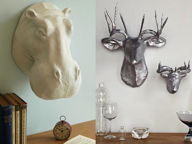 Decoraci n cabezas de animales s o no monicositas - Cabezas de animales decoracion ...