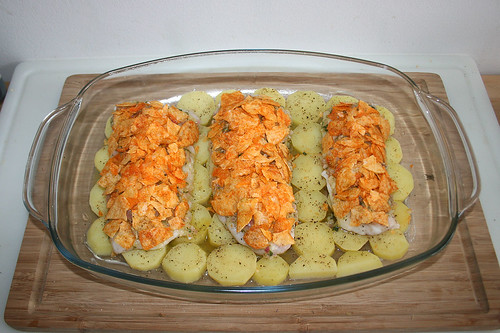 29 - Fischfilets mit Kartoffelchips belegen / Cover wit potato chips