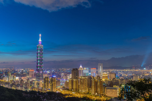taiwan taipei nightview taipei101 台灣 台北 夜景 hdr 象山 d600 1835mm