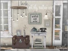 tarte. early autumn collection for The Arcade September