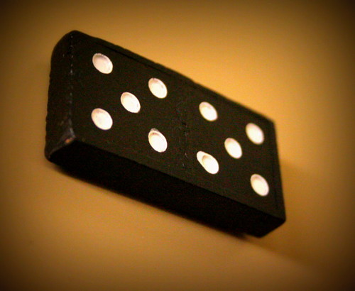 259/365 Found Domino - Double 5