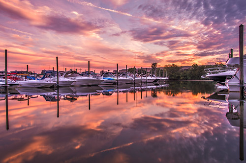 Sunset at the Pentagon Marina by Geoff Livingston