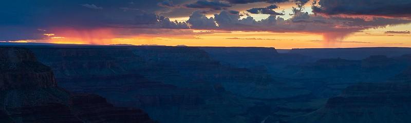 Dusk and Rain on the South Rim - Grand Canyon National Park