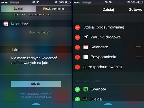 Instalowanie widżetów (iOS 8)
