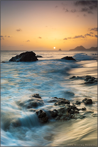 sunset seascape martinique caribbean