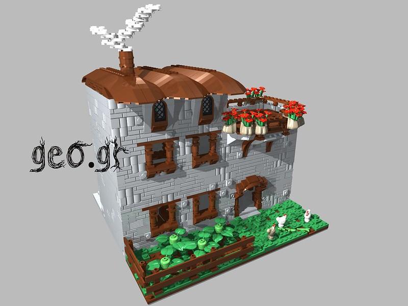 [Digital MOC]:Modular Cottage House 15111764279_baccea3210_c
