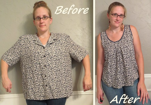 Flowy Floral Top - Before & After