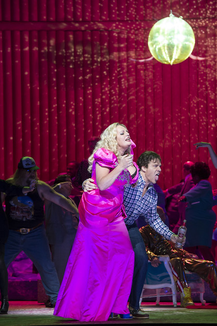Rod Gilfry as Stern and Eva-Maria Westbroek as Anna Nicole in Anna Nicole © ROH / Bill Cooper 2014