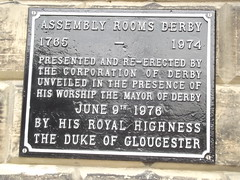 Photo of Assembly Rooms, Derby and Richard black plaque