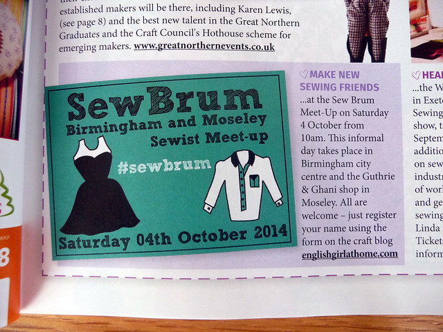 #SewBrum Meet-Up in Love Sewing Magazine