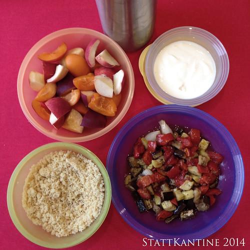 StattKantine 29.09.14 - Couscous, Backofengemüse, Joghurt