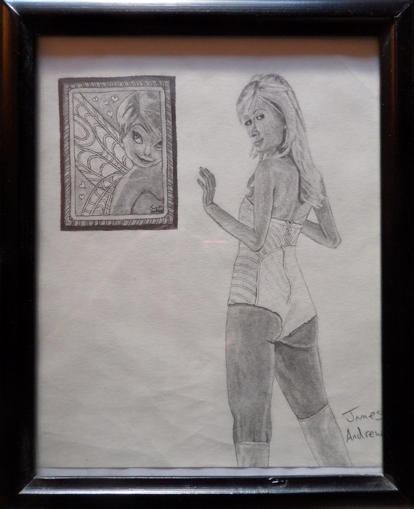 Paris Hilton and a Portrait of Tinker Bell