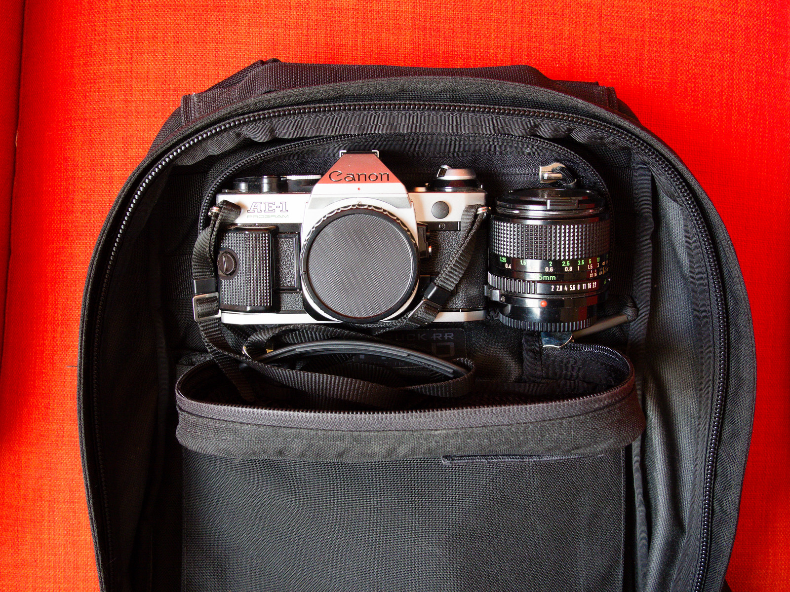 Goruck RR Field Pocket with Canon AE-1 Program and Canon FDn 35mm f/2.0 lens