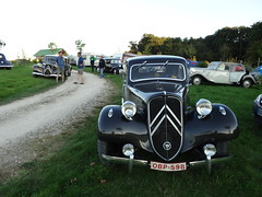 80 Jahre Citroen Traction Avant 2014 La Ferte-Vidame 709 Camping Huttopia Senonches