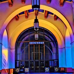 Los Angeles California  ~ Union Station ~ Exterior ~ Historic Ticket Entrance