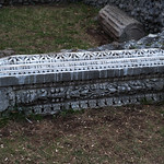 Lanuvium 12: fragment of marble entablature