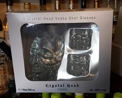 Crystal Head Vodka Gift Set with Crytal Head Skull Shot Glasses