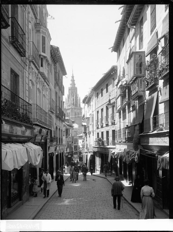 Calle Ancha a comienzos del siglo XX. Fotografía de J. Lacoste © MECD, Fototeca del IPCE, signatura VN-22676_P