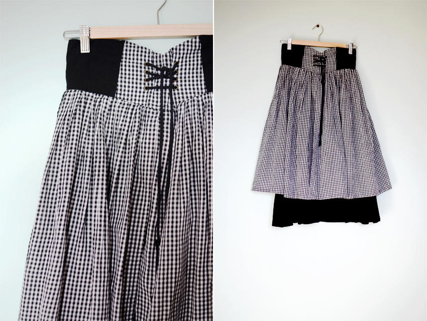 black-gingham-skirt a