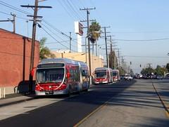 Metro buses @ South Bay Galleria layover 2008